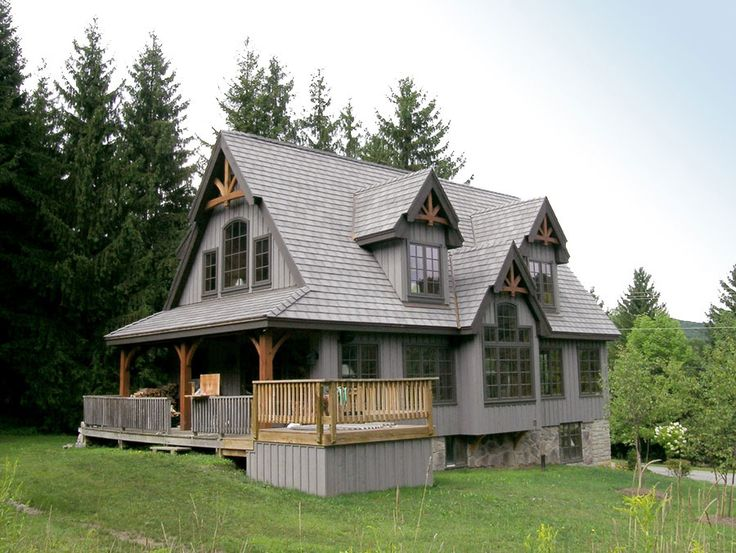 Timber frame exterior design normerica authentic timber for Timber frame bungalow