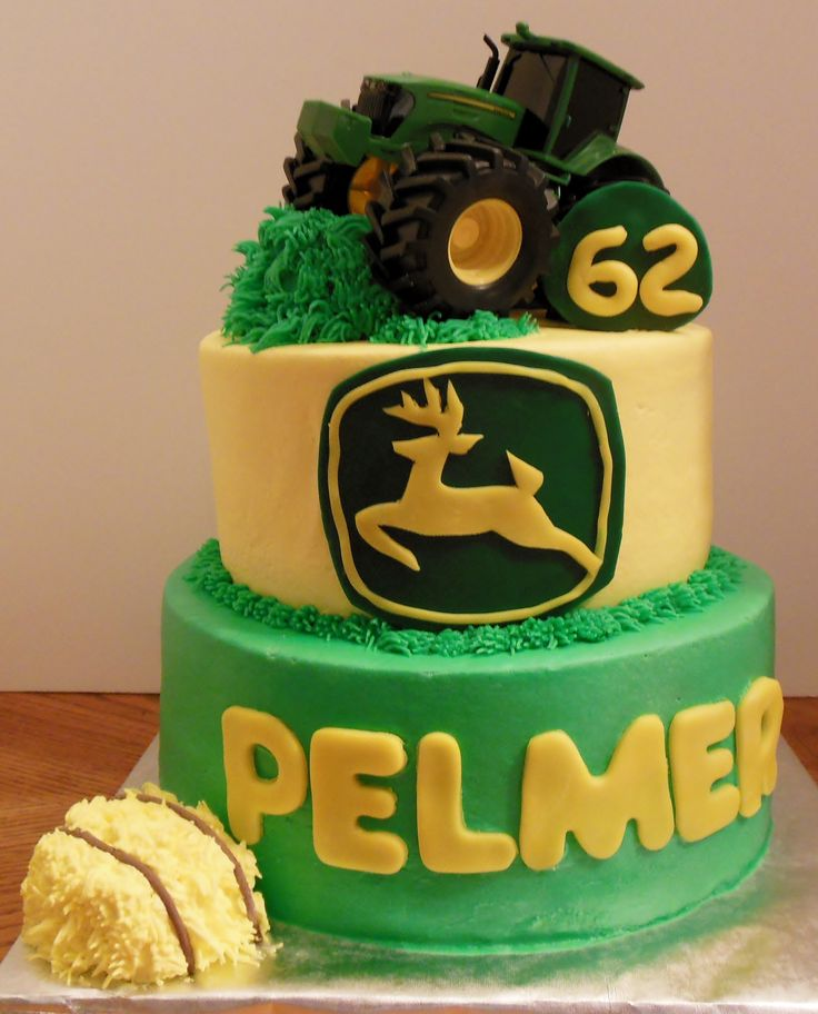 Birthday Cake Photos - John Deere Tractor cake for Pelmer's 62nd Birthday