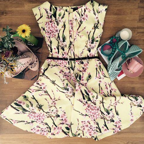 Rae cherry blossom dress - $129  www.ava-design.com