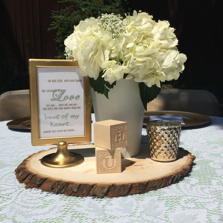 Mint Green Gold Amp Lace Vintage Baby Shower Hydrangea