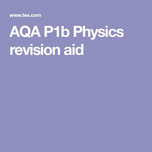 AQA P1b Physics revision aid