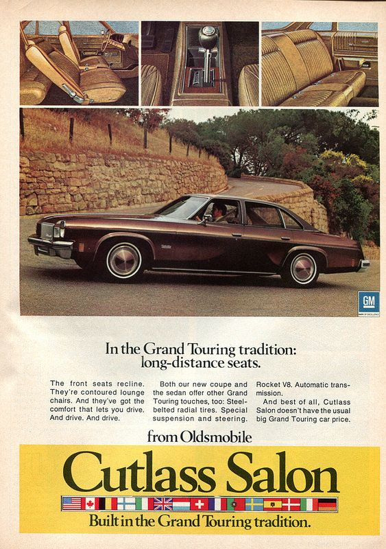 1196 best images about automotive advertising on pinterest for 1974 oldsmobile cutlass salon