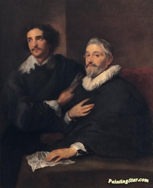 Portrait of the brothers de wael Artwork by Anthony van Dyck Hand-painted and Art Prints on canvas for sale,you can custom the size and frame