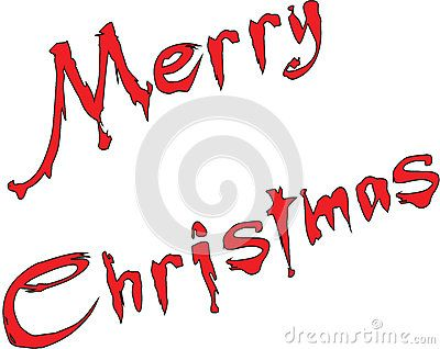 Merry Christmas Writen In English - Merry Christmas writen in English written on a white Background.