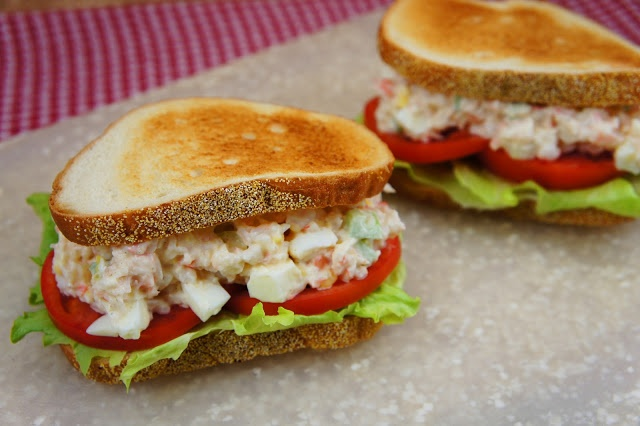 The Kitchen Life of a Navy Wife: Paula Deen's Shrimp Salad Sandwiches