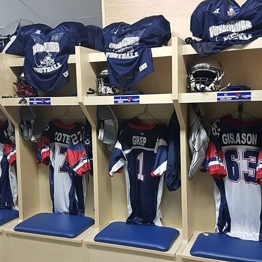 Football lockers- Bonnyville Voyageurs  #footballlockerroom #footballlocker #footballlove #footballforlife #cfl #nhl #nfltop100 #nflgameday #nflfootball #albertafootball #footballcanada #canadianfootball #canadianfootballleague #collegefootball #highschoolfootball #highschoolfootballgame