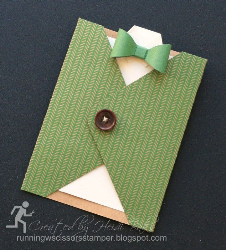 Masculine Sweater Pocket Card by hlw966 - Cards and Paper Crafts at Splitcoaststampers