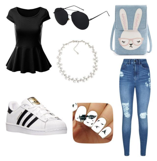 """""""deportivo y casual"""" by samantha2nazaret on Polyvore featuring adidas, Lipsy and Carolee"""