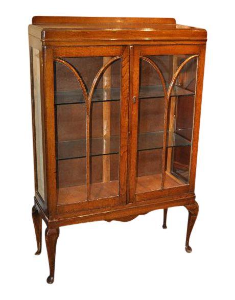 English Oak Display Cabinet Circa 1920 on Chairish.com