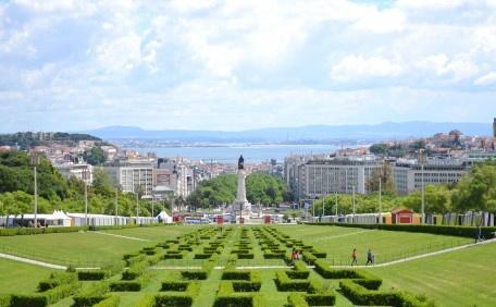 Parque Eduardo VII com vista para o Tejo
