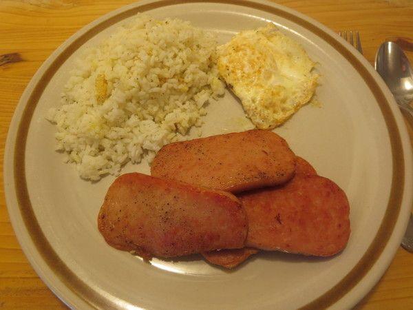 Spamsilog Filipino Breakfast