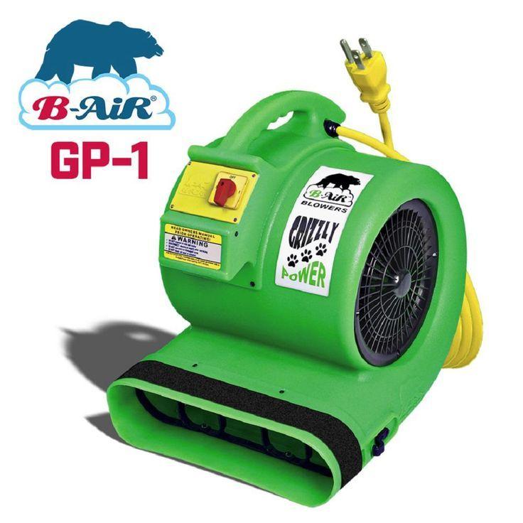 B Air 1 Hp Air Mover For Water Damage Restoration Carpet Dryer Floor Blower Fan Green Ba Gp Damage Restoration Pet Cage Blower Fans