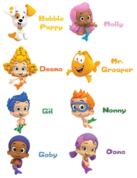 179 best images about party time bubble guppies on for Bubble guppies fish