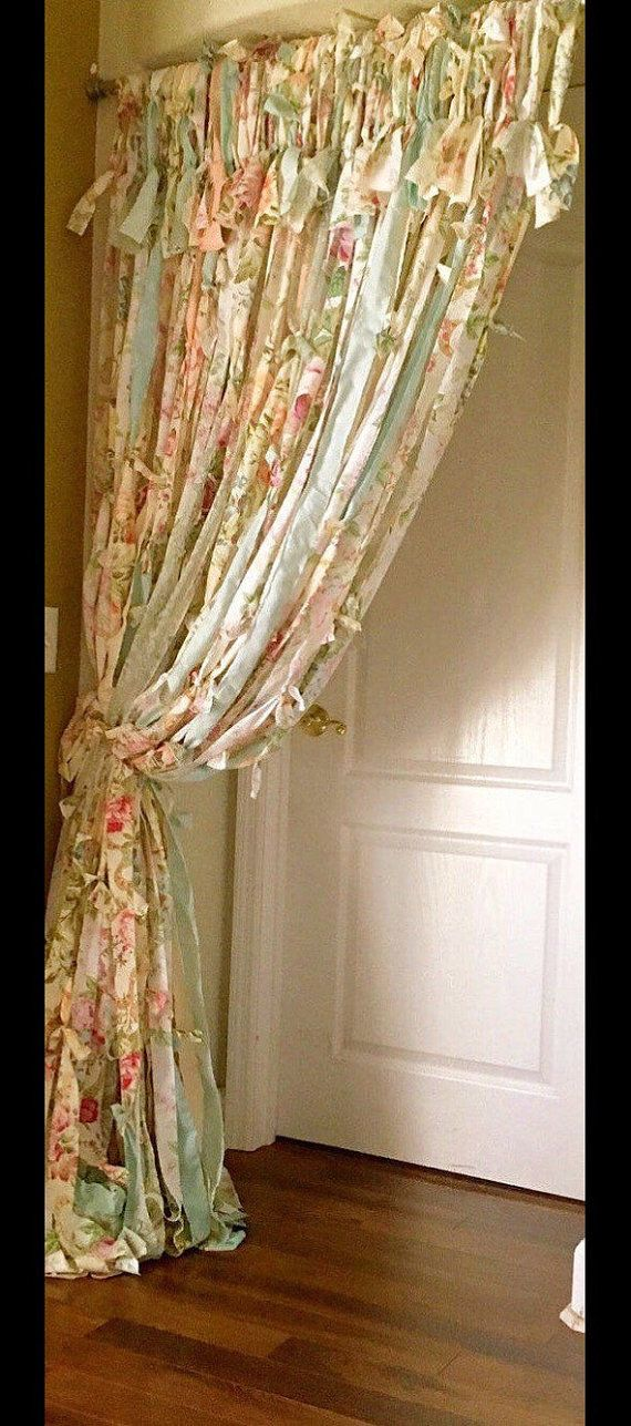 SHABBY CHIC Victorian CURTAINS by IslandChickDesigns on Etsy