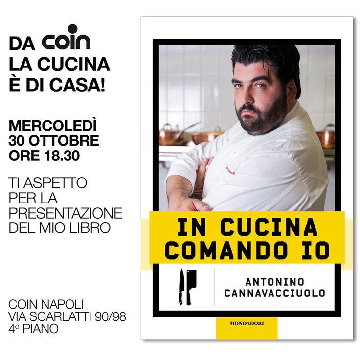 Torna a grande richiesta da Coin lo chef pluristellato A. Cannavacciuolo per un appuntamento napoletano! http://www.coin.it/news/a-grande-richiesta-lo-chef-pluristellato-antonino-cannavacciuolo-torna-negli-store-coin-per-un-appuntamento-napoletano