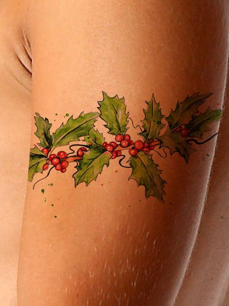 New tattoos and products added weekly! New today : Christmas Tattoo ....  See it here! http://www.asiftattooed.com/products/christmas-tattoo-hollyberrry?utm_campaign=social_autopilot&utm_source=pin&utm_medium=pin