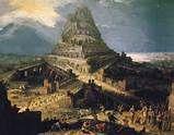 """""""Und die ganze Erde war von einer Sprache und von einer Rede. Und es kam zu pa …   – Cosmogony, Religion and Mythology"""