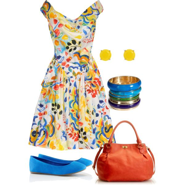 So. Much. Color.: Summer Dresses, Fashion, Style, Bright Color, Clothing, Outfit, Vivienne Westwood, Polyvore, Create