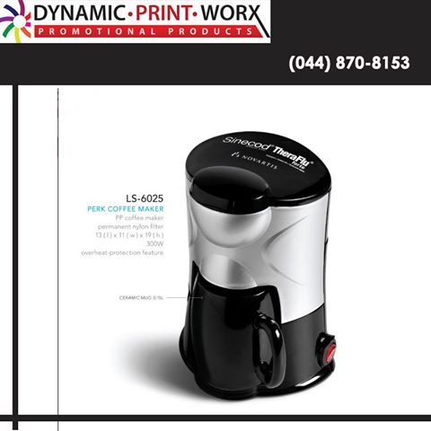 Put your brand on the next cup of coffee your clients make. Order a Coffee Maker from Dynamic Print Worx and make sure they never forget you. #brandedgifts #executivegifts