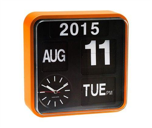 Karlsson Wall clock Mini Flip Orange Casing KA5364OR - Karlsson - Merker - Klokker.no