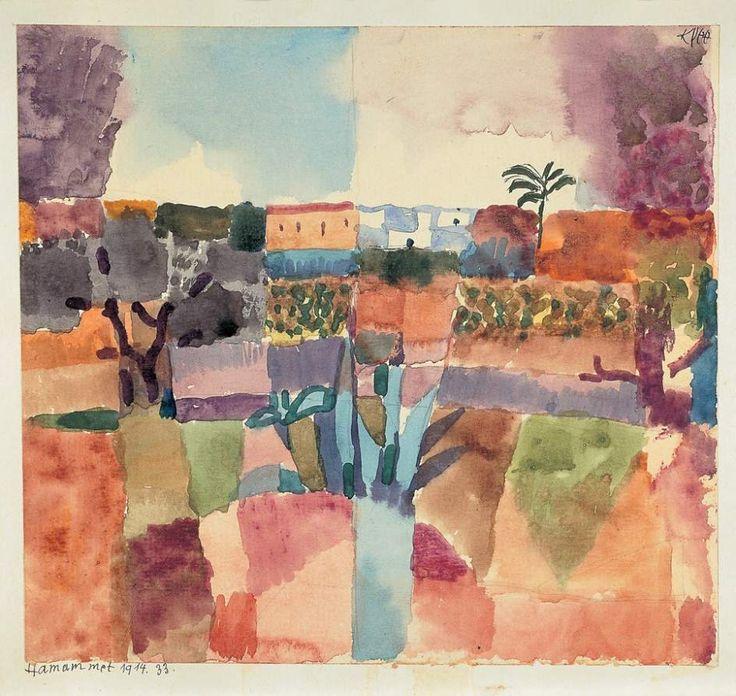 Klee - 'HAMAMMET, 1914, 33' Paul Klee representa en una acuarela el paisaje de Hamammet (Túnez).  En el viaje, el pintor suizo asociado al expresionismo comenzó su carrera hacia la abstracción.