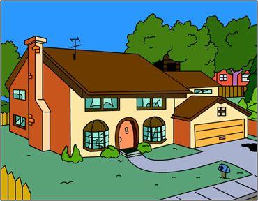 742 evergreen terrace famous houses pinterest for Evergreen terrace 742