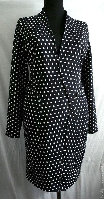 кардиган в горошек - чёрный,в горошек,платье с запахом,платье в горошек