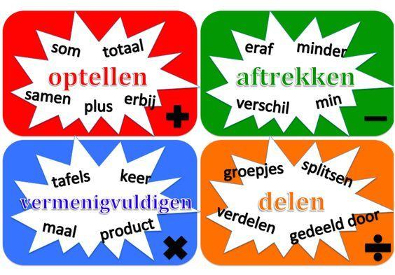 Onderwijs en zo voort ........: 2882. Woorden bij verhaaltjesommen : Steekwoorden ...