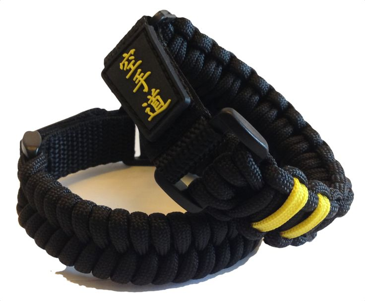 Karate-do Black Belt Paracord Bracelets  Wear your Karate Rank!
