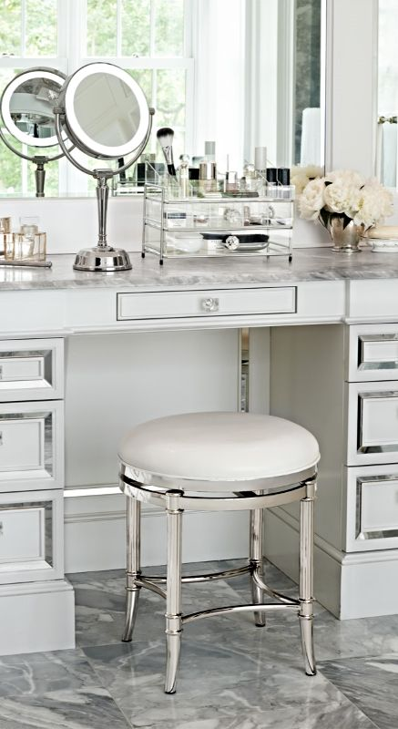 Freshen up in your master bath with service from our Bailey Vanity Stool.