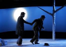 this picture represents two men wait on Godot