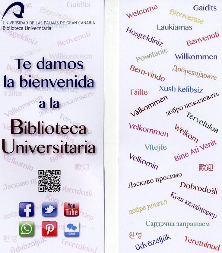 Te damos la bienvenida a la Biblioteca Universitaria, realizado para los estudiantes de Erasmus.