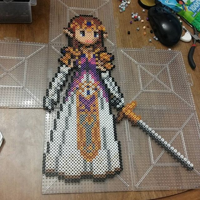LoZ Zelda perler beads by three_point_one_four_creations