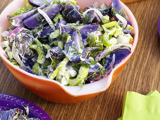 Purple Potato Salad Recipe : Duff Goldman : Food Network - FoodNetwork.com this one has the directions