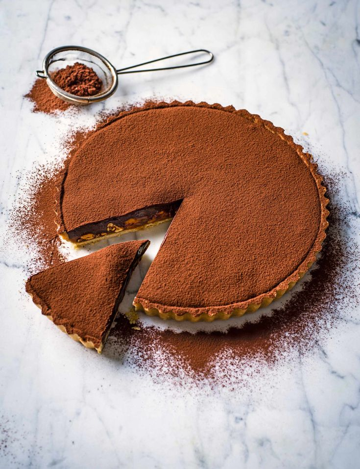 Best Chocolate Tart Recipes Caramel Tart Recipe with Chocolate Ganache, Nuts and Coffee Check out this impressive looking caramel tart from Edd Kimber. This decadent dessert recipe with nuts, chocolate ganache and coffee, is the perfect way to finish a sophisticated dinner party