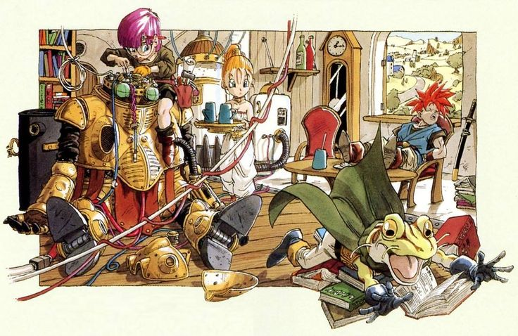 """Chrono Trigger"" by 鳥山 明 Akira Toriyama* Promotional Art 