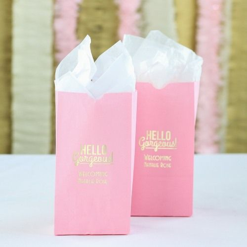 When you finish customizing these personalized baby shower goodie bags, they won't just be your favor bags-they'll be your favorite bags!