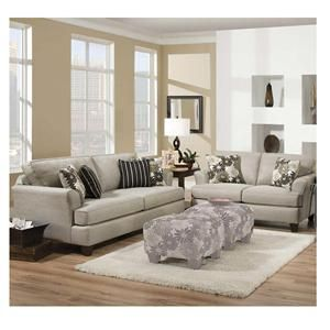 Contemporary Sofa And Loveseat In Mystery Stone
