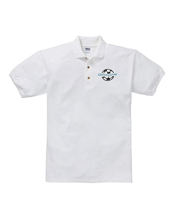 The Brilliant Gift Shop Personalised Football Polo Shirt Personalise with name up to 12 letters. http://www.MightGet.com/january-2017-13/the-brilliant-gift-shop-personalised-football-polo-shirt.asp