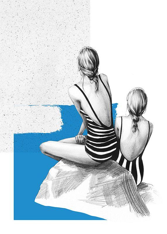 """Plakat """"Sisterhood II' by Ewelina Dymek"""