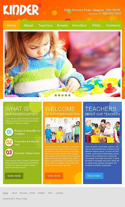 Best Kids Center Website Images On   Website Template