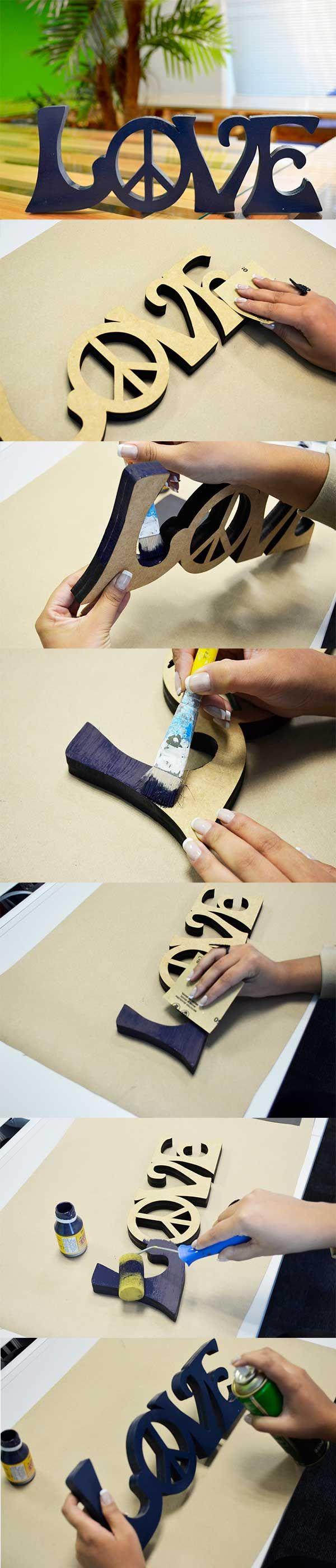 Descubra Como Pintar Letras de MDF decorativas... Ficam Lindas!