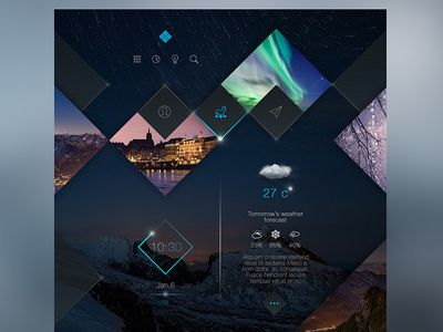 Square Space for traveling and weather forecast