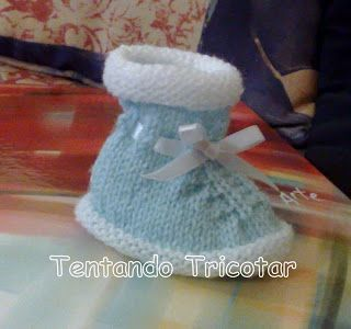 Tentando Tricotar: Sapatinho de bebê Madre Luzia (receita Aldina)