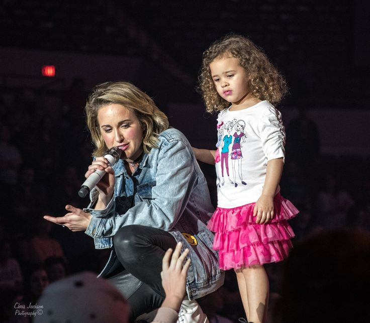 "BRITT NICOLE on stage with daughter, ELLA BRAVE. Performing her new song ""WORK OF ART"" on WINTER JAM tour.  • • • • • For more photos like this head to britt_nicole_gold_fanpage on Instagram!  • • • • #brittnicole #daughter #gold #kids #winterjam #workofart"