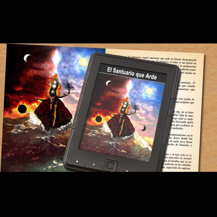 "Google Books ""El Santuario que Arde"" de Hernán Ergueta #hernanergueta #ilustracion #cuentos"