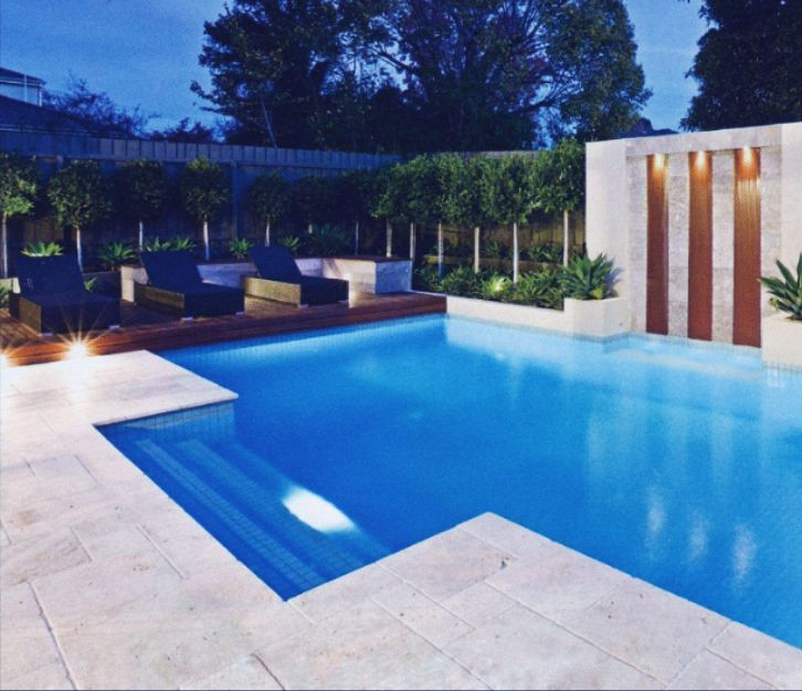 Image result for travertine coping