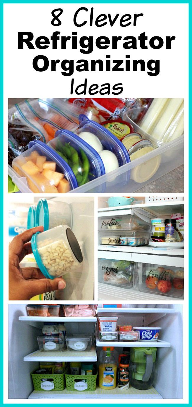 8 Clever Refrigerator Organizing Ideas- You don't need a bigger fridge, you just need to reorganize the one you have! Check out these clever refrigerator organizing ideas and gain fridge space! | home organization, organize your home, organizing tips, kitchen organization, how to organize your fridge, DIY organization