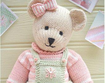 ROMEO Bear / Teddy Bear Toy Knitting Pattern/ PDF/ Plus Free