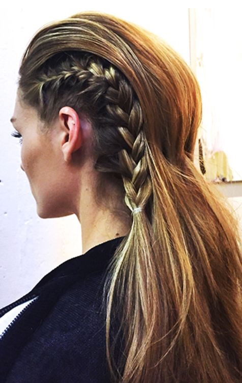Update your braids with an edgy look.